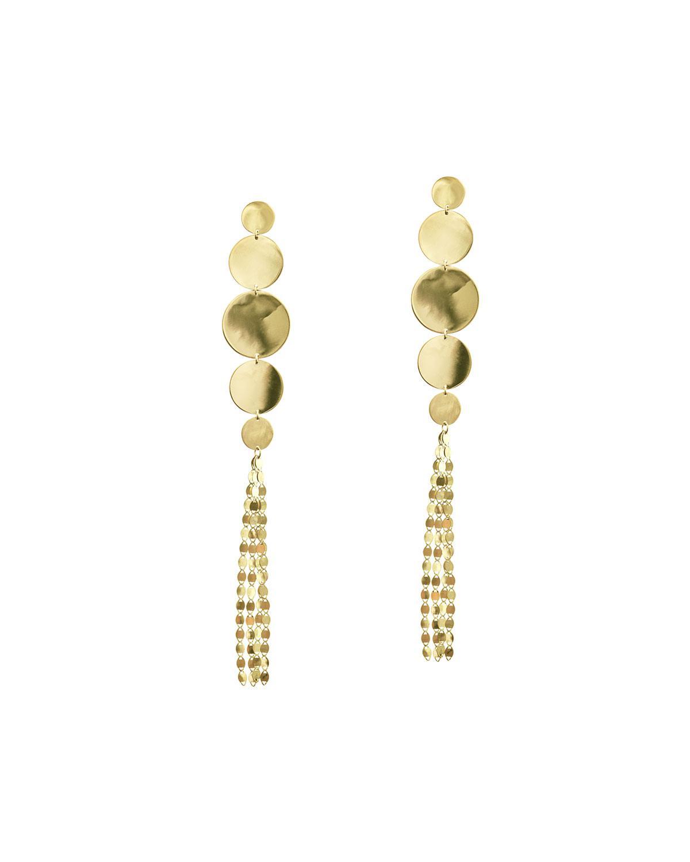 Lana Jewelry Large Nude Disc Fringe Earrings FJOgXSuZi
