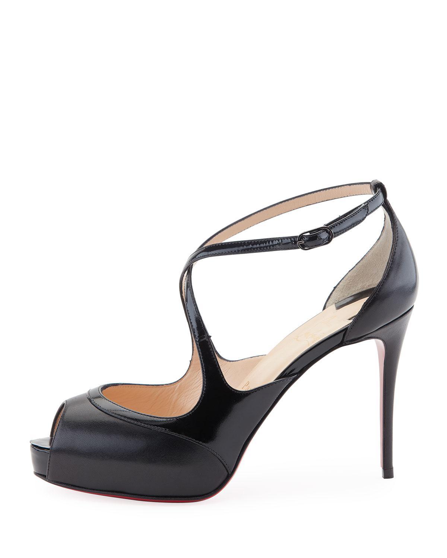 wholesale dealer 1a9b7 e3a97 Christian Louboutin Black Mira Bella Leather Red Sole Sandal