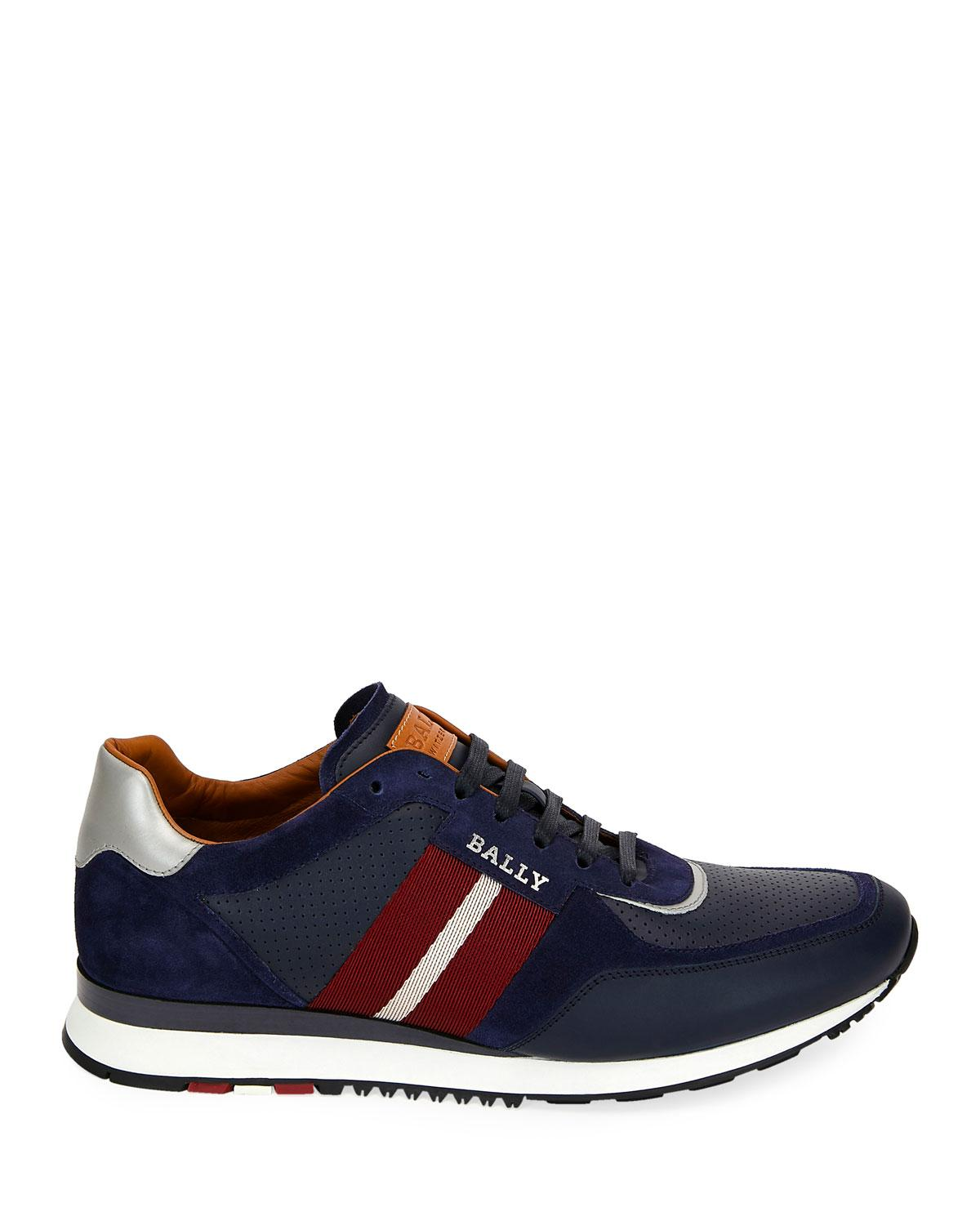 b6e2a0fcee205a Lyst - Bally Men s Aston Leather Sneakers - Ink - Size 13 D in Blue for Men