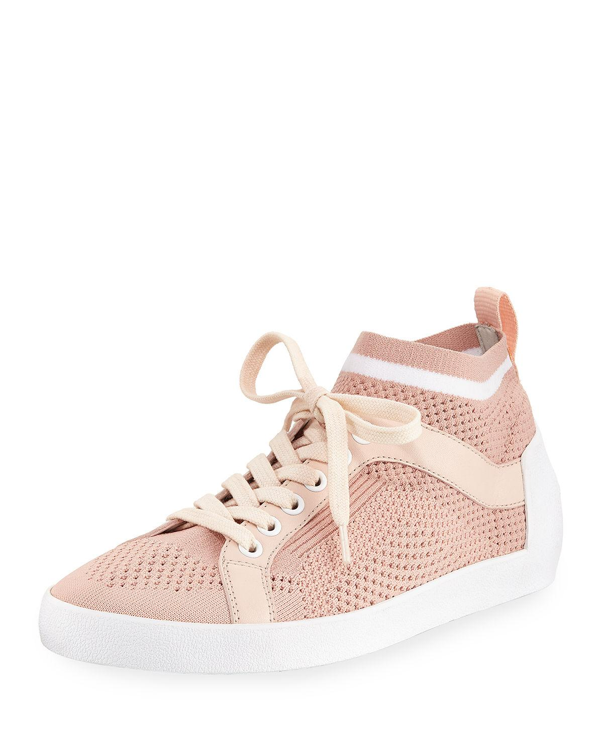 ebb238a77355a Women s Nolita Mesh Lace Ash Up Pink Knit Sneakers awEfdf