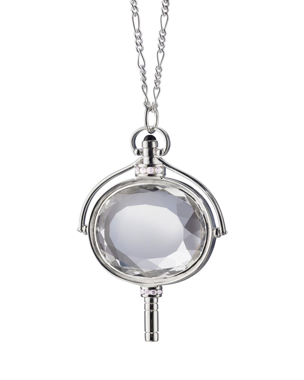Monica Rich Kosann Rock Crystal Rectangular Key Necklace 1RgJTuPK