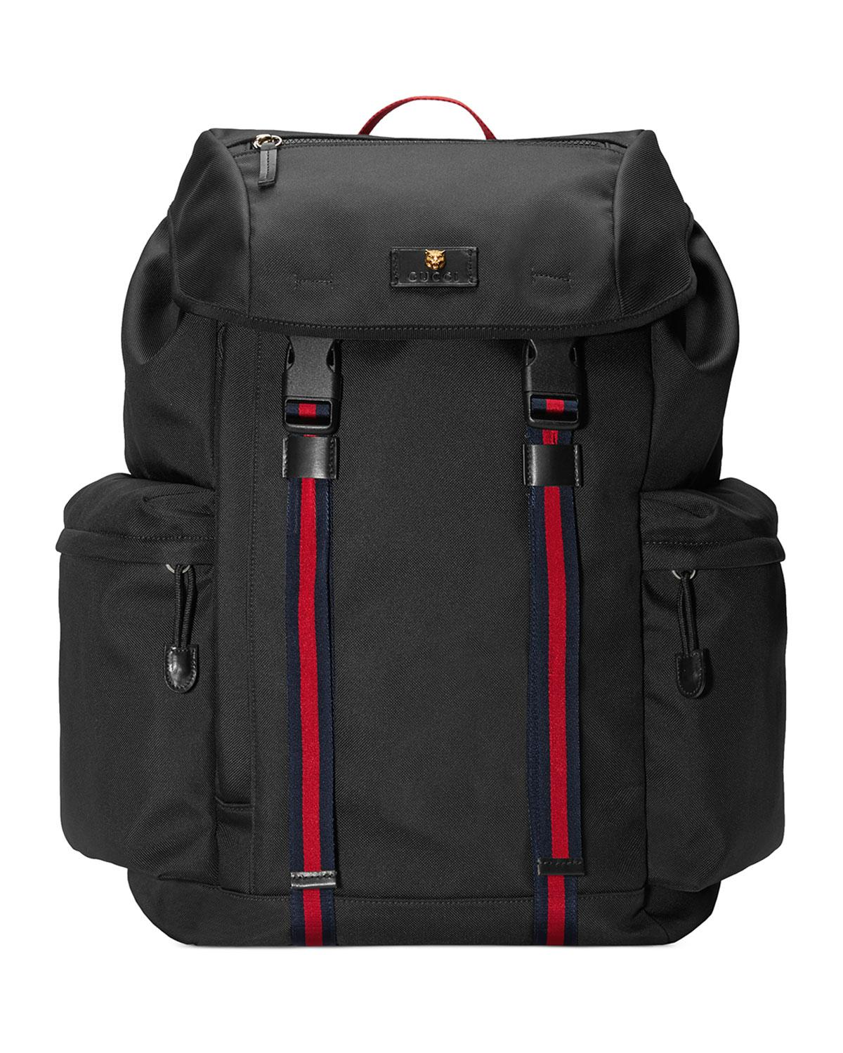 Lyst - Gucci Men s Techno-canvas Flap Backpack in Black for Men b32bd5a8108c1