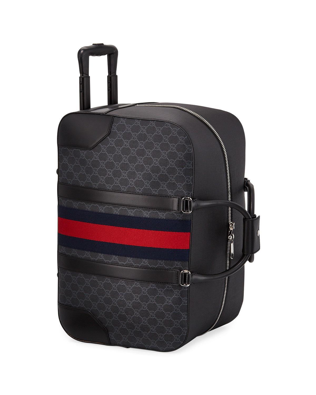 fd28a99b638 Lyst - Gucci Men s GG Supreme Rolling Weekender Duffel Carryon Bag in Black  for Men
