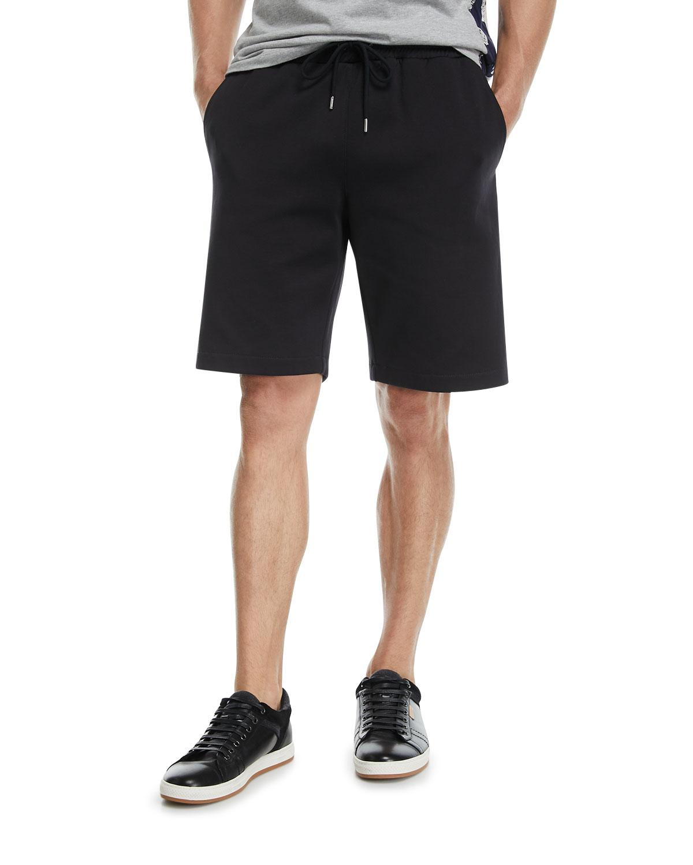 46c347b25255 Lyst - Moncler Nylon Sweat Shorts With Logo Taping in Black for Men
