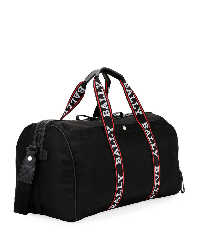 cf9bf914940f Lyst - Bally Men s Darcy S0 Logo-tape Nylon Duffel Bag in Black for Men