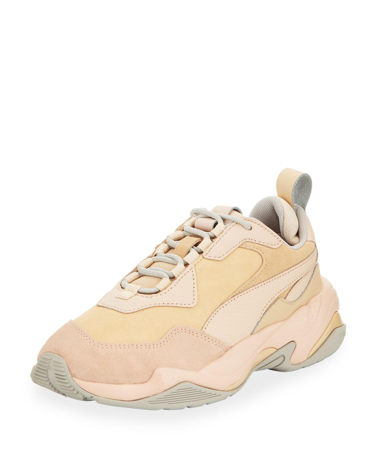 636cc2fa5f2596 Lyst - PUMA Thunder Drift Leather Trainer Sneakers in Natural