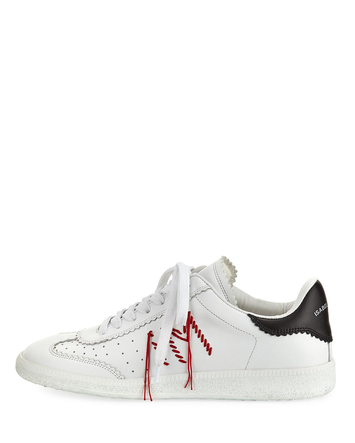 51b019a8a77 Isabel Marant Bryce Side-stitch Low-top Sneaker in White - Lyst