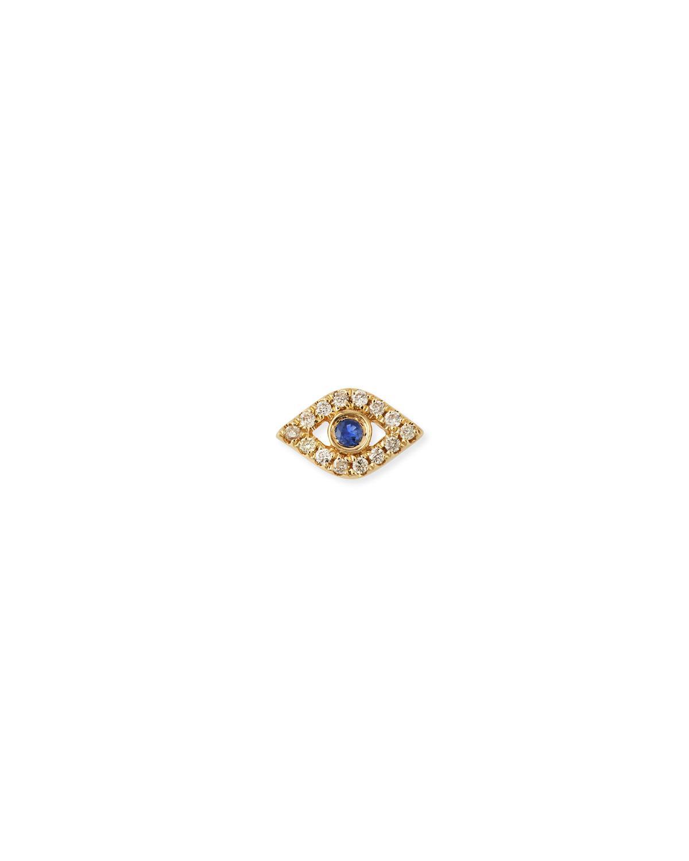 2fac95f11 Sydney Evan. Women's Metallic 14k Diamond Mini Evil Eye Single Stud Earring