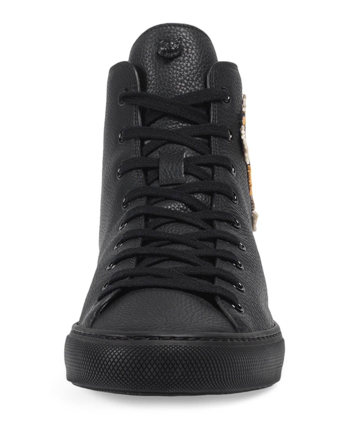 best cheap affordable price the cheapest Men's Major High-top Sneakers W/tiger Patch
