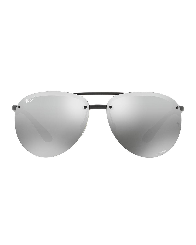 e5760f3df60aa ... discount ray ban. mens black rimless mirrored polarized sunglasses  2c948 e73de