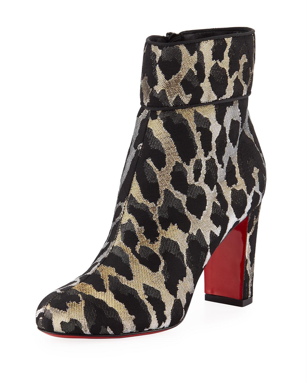 27839f91fd10 Christian Louboutin. Women s Black Moulamax 85mm Feline Red Sole Booties
