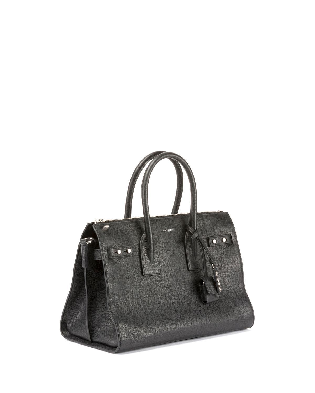 d1805682f0f Lyst - Saint Laurent Sac De Jour Small Supple Leather Duffel Bag in Black