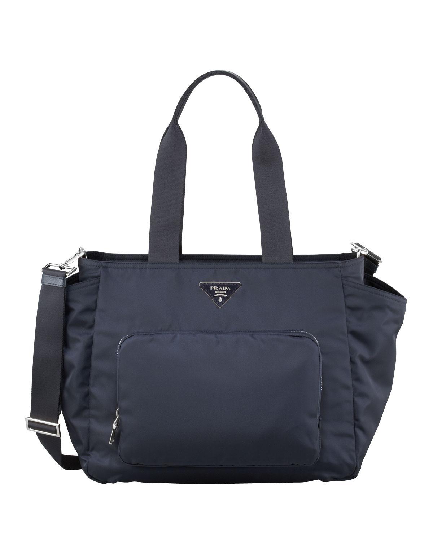 bf97e6ec90eb Prada - Black Vela Nylon Baby Bag - Lyst. View fullscreen