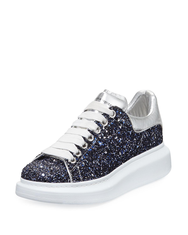 Alexander McQueen Classic Mcqueen Glitter Low-top Sneaker ...