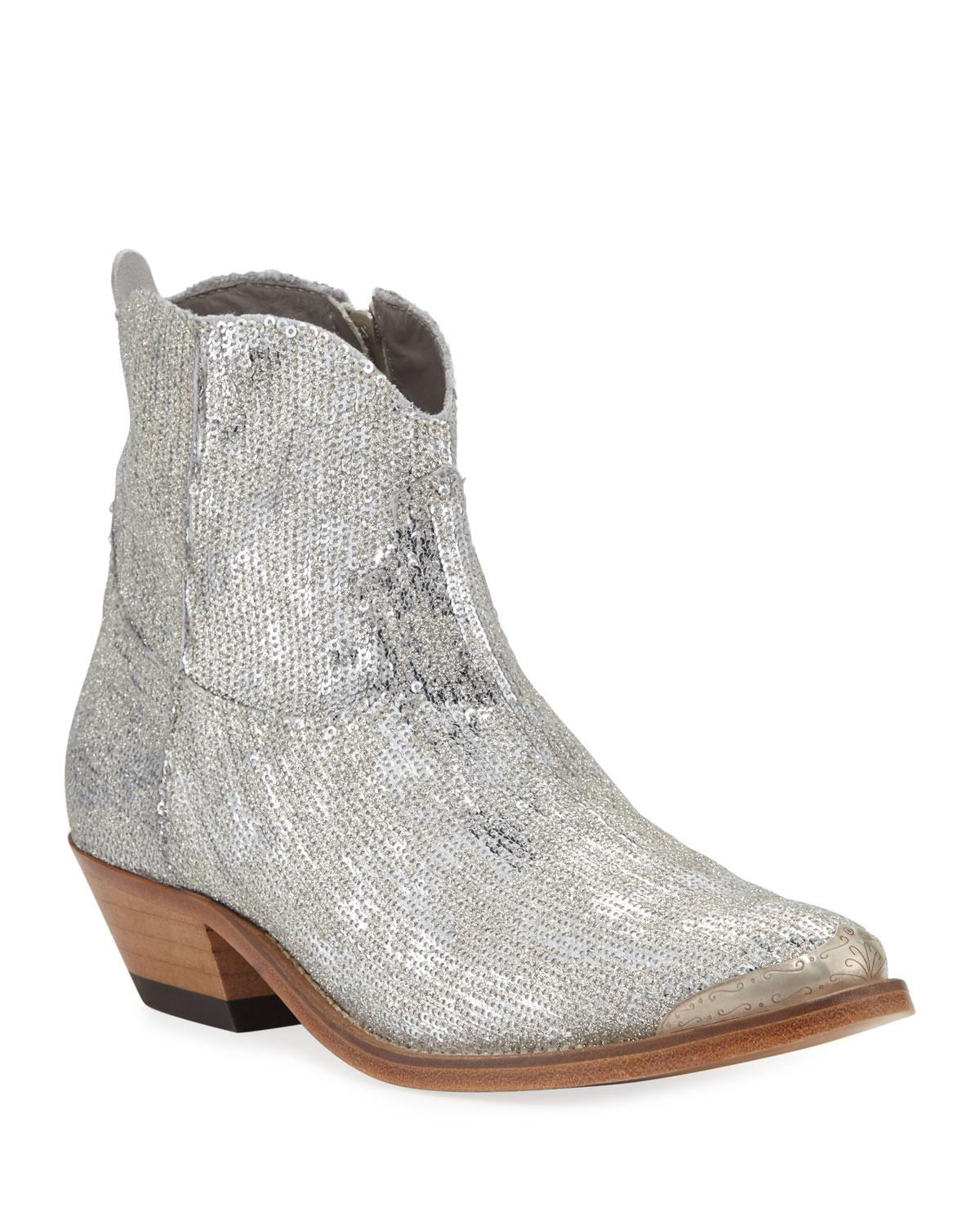 741dca9b652 Golden Goose Deluxe Brand Young Sparkles Sequined Western Boots - Lyst