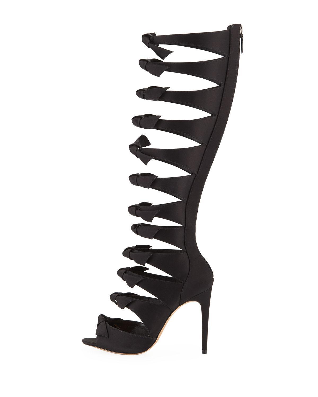 b1b476d4c885 Alexandre Birman Fetish Over-the-knee Gladiator Sandals in Black - Lyst
