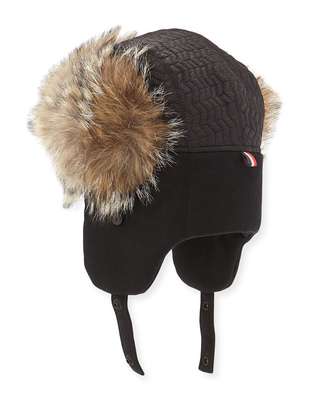 636c0ef7b04 Lyst - Moncler Fur Trapper Hat in Black