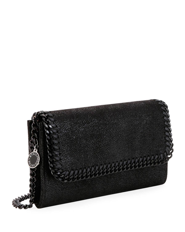 10befdaf7aeb Lyst - Stella McCartney Falabella Shaggy Deer Crossbody Bag (black  Hardware) in Black