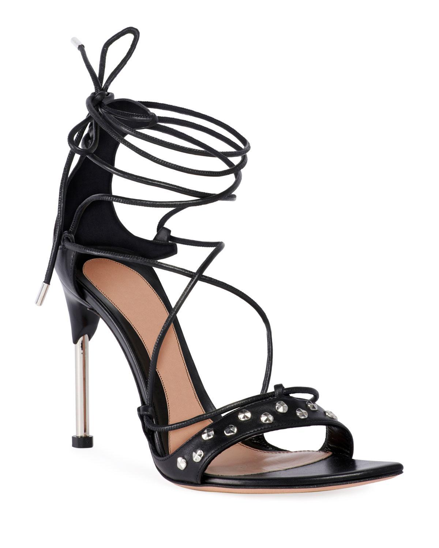 8adae30ee55f Lyst - Alexander McQueen Lace-up Tie High Sandals in Black