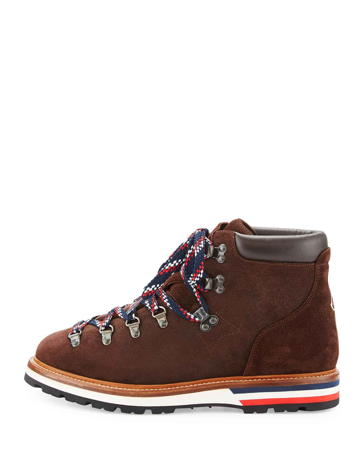 Lyst Moncler Men S Fashion Leather Mountain Boot In