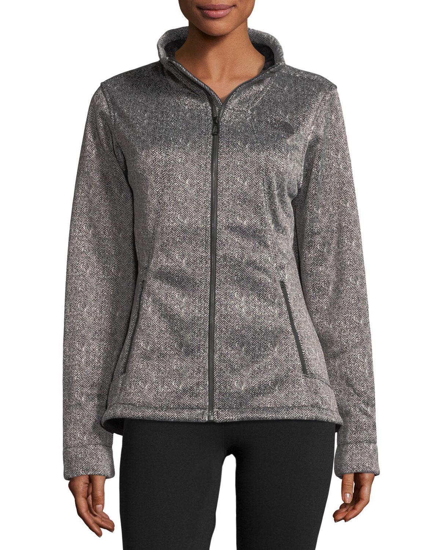 5e227c293 The North Face Black Apex Chromium Zip-front Herringbone-print Thermal  Jacket