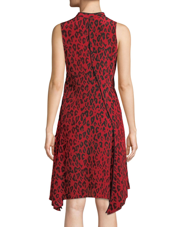 8ea9260b009f3 Lyst - Diane von Furstenberg Sleeveless Bias-cut Floral-print Silk Dress in  Red - Save 18%
