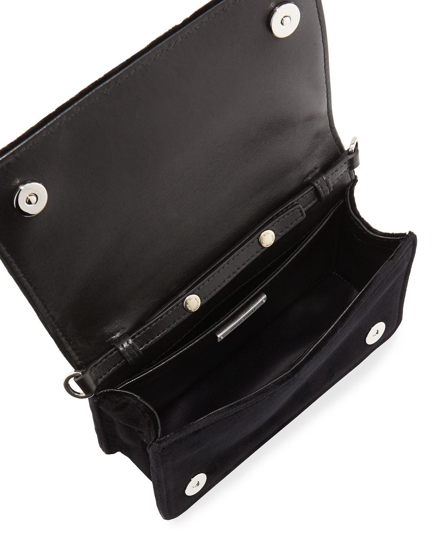 d98561387850c Miu Miu Embroidered Velvet Clutch Bag in Black - Lyst