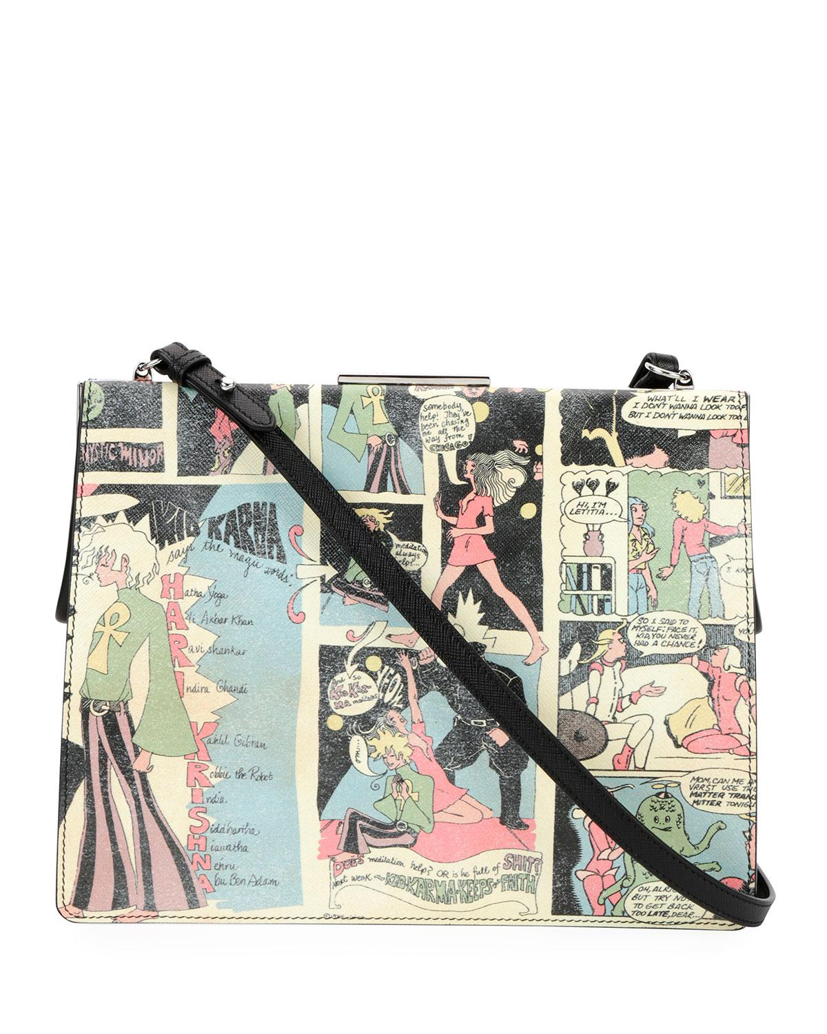 Prada Cartoon printed purse wk0irRkjP