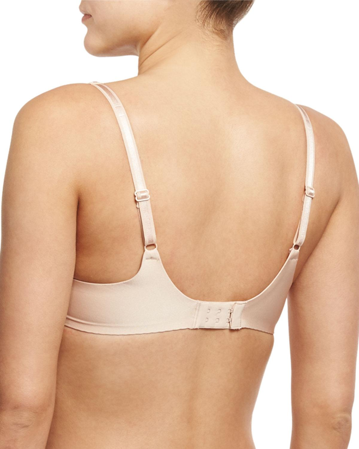 f05eff4eb00a9 Lyst - Chantelle Modern Inversion Custom-fit Plunge Bra in Natural