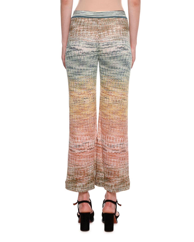 0441ff000 Lyst - Missoni Zigzag Knit Wide-leg Pants