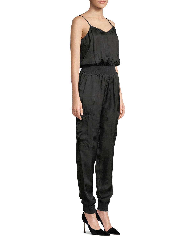 28922165add Cinq À Sept - Black Amia Twill V-neck Jumpsuit - Lyst. View fullscreen