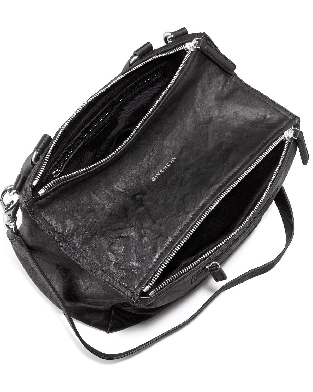 f1db997f90 Lyst - Givenchy Pandora Medium Leather Satchel Bag in Black