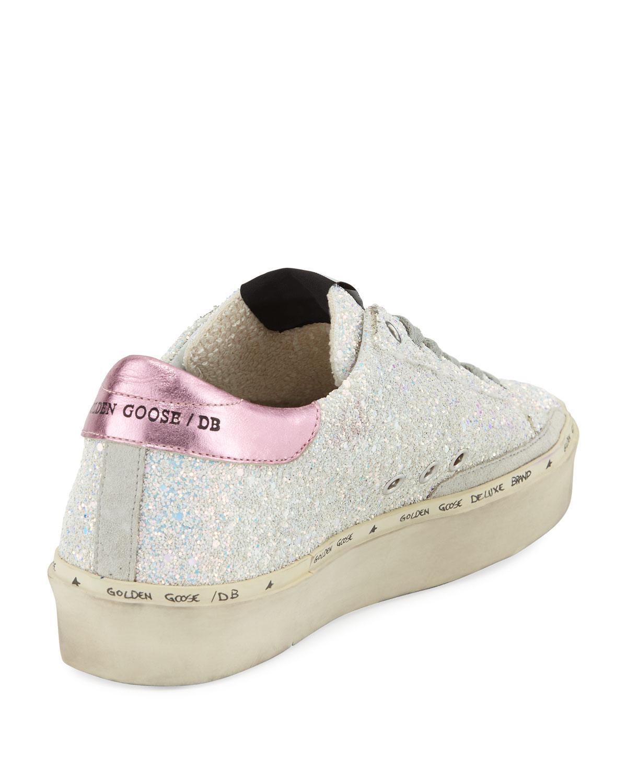 Goose Hi Star Glitter Platform Sneaker