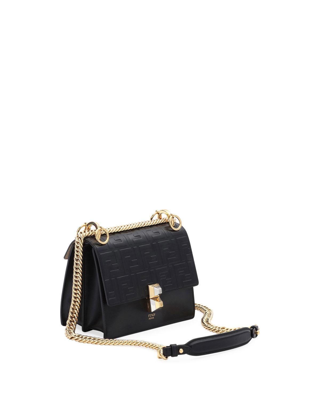 fc128ae1e95d Lyst - Fendi Kan I Small Liberty Ff Embossed Shoulder Bag in Black