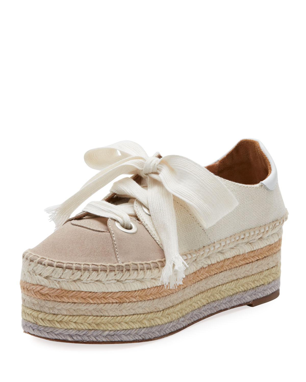 Suede Qai Platform Espadrille Sneaker