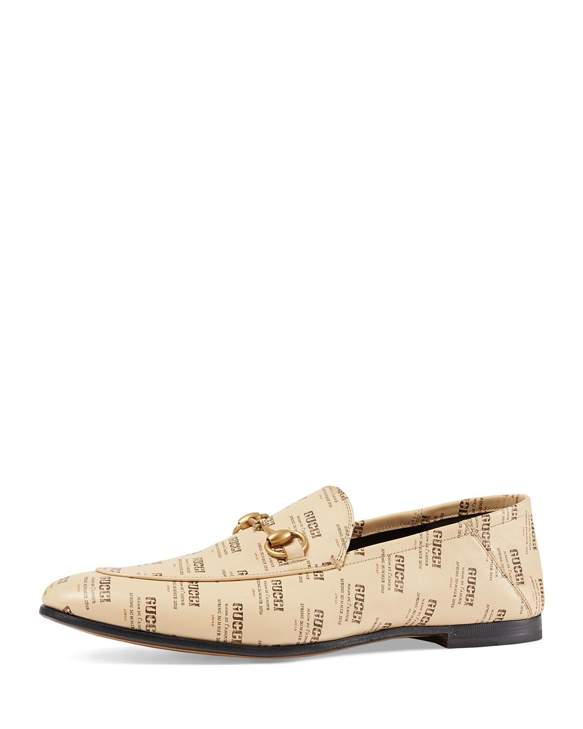 b4007fd6019 Gucci - Natural Leather Invite Print Loafer for Men - Lyst. View fullscreen