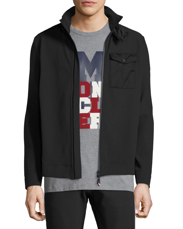 2b365738c Lyst - Moncler Grenoble Men s Maglia Zip-front Shirt Jacket in Black ...