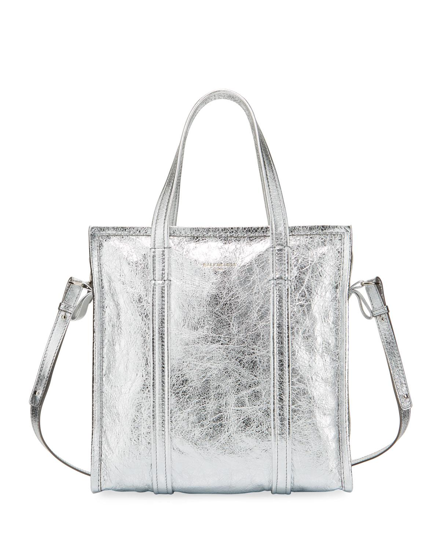 Lyst - Balenciaga Bazar Shopper Small Aj Metallic Leather Tote Bag ... d3734735126bf