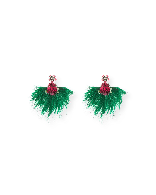 Ranjana Khan Passerine-Y Feather Drop Earrings pIbwbR