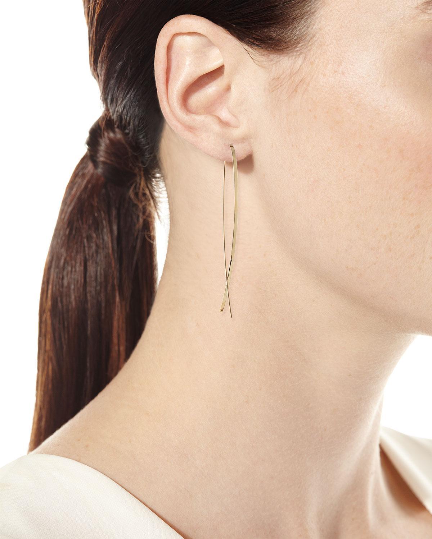 37d18bd8d3f0d Women's Metallic 14k Elite Narrow Upside Down Hoop Earrings