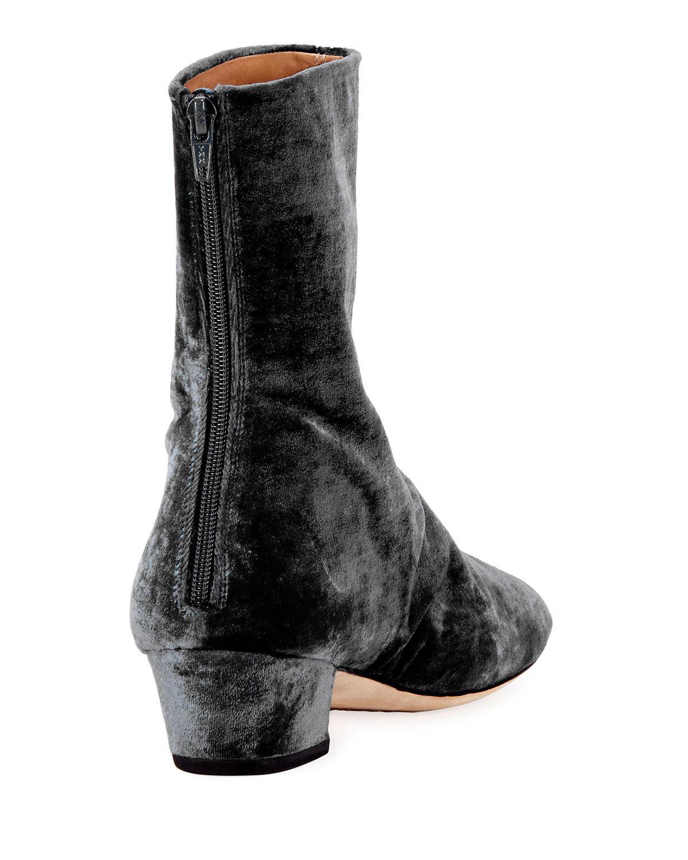 Dries Van Noten Crushed Velvet Ankle Boots cheap get to buy 5BN4tvE93j