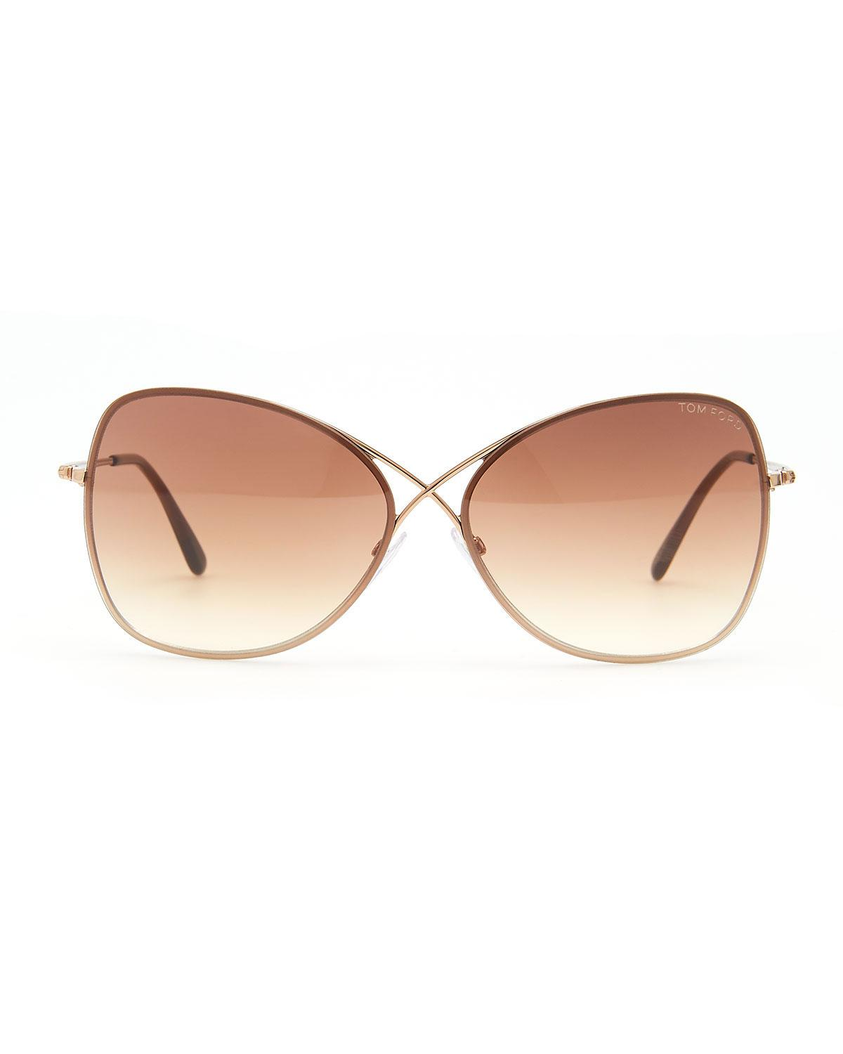 b94fad487048 Lyst - Tom Ford Colette Metal-frame Butterfly Sunglasses - Save  2.941176470588232%