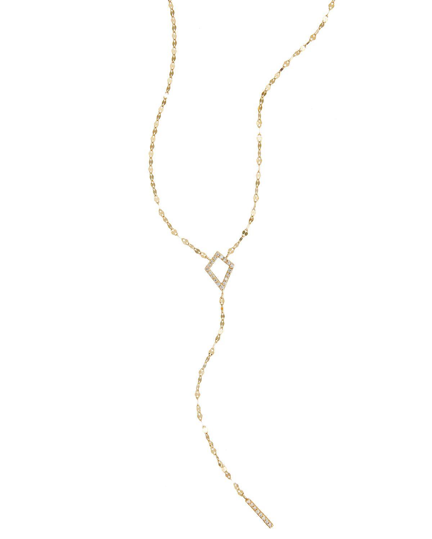 Lana Jewelry 14k Solo Chime Lariat Necklace w/ Diamond oMSfFFQo