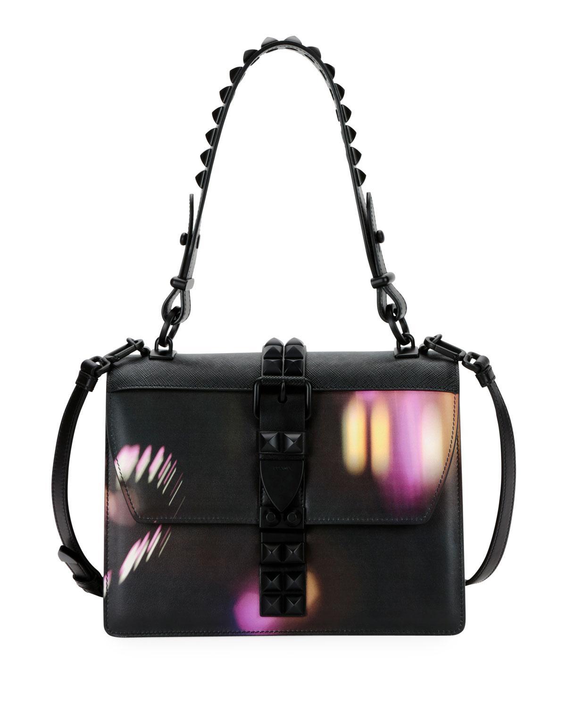 e90e4238553d ... reduced prada. womens black elektra city lights top handle bag 094e7  fba1d