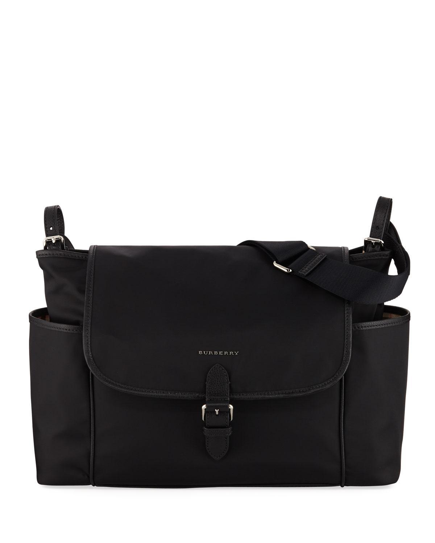 fa54c39f671d Lyst - Burberry Flap-top Canvas Diaper Bag in Black for Men