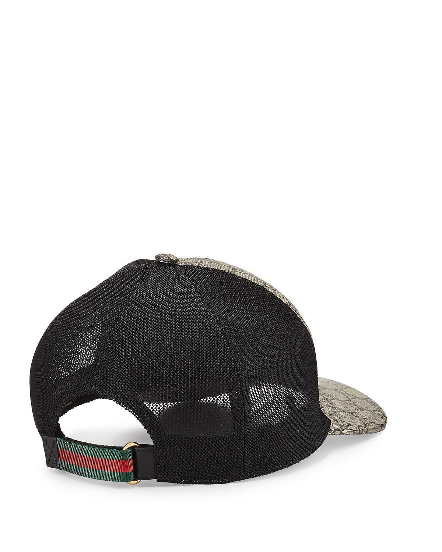 260c56667e3 Lyst - Gucci Tigers-print GG Supreme Baseball Hat in Brown for Men