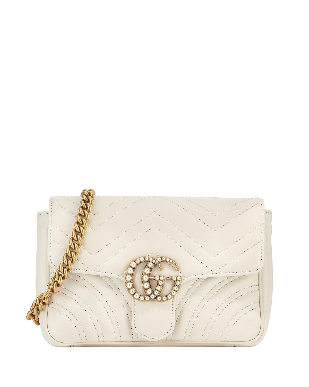 9aedd1829d8 Lyst - Gucci Gg Marmont Matelassé Flap Belt Bag in Black