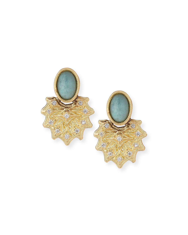 Armenta Old World Stone Stud Earrings, White Aquaprase