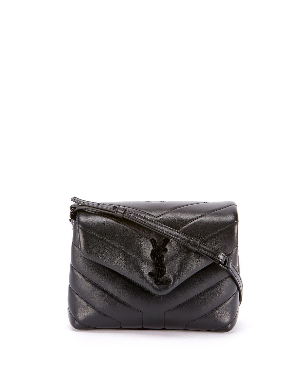 89b7a1eb46 Saint Laurent. Women s Black Loulou Toy Monogram Ysl Quilted Shoulder Bag