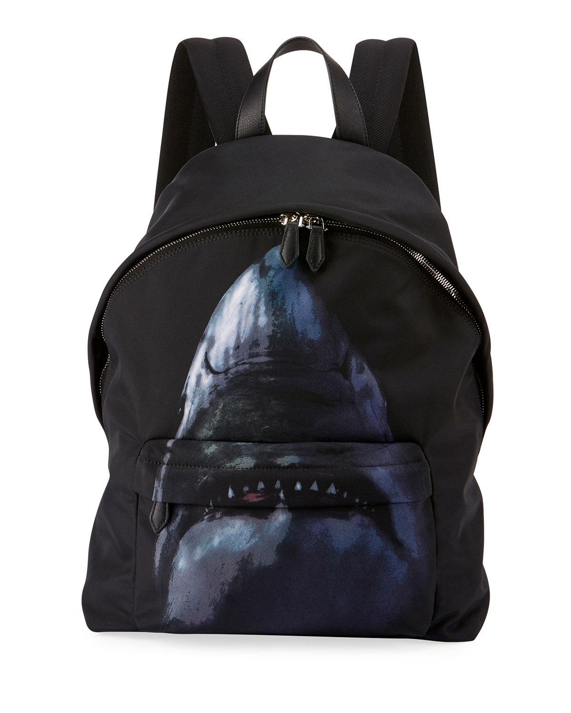 f05827e497 Lyst - Givenchy Shark-print Nylon Backpack in Black